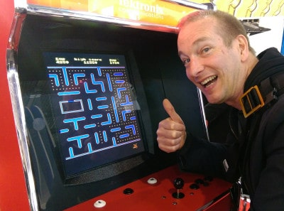 Pascal Forget Pac Man Barcelone MWC 2015