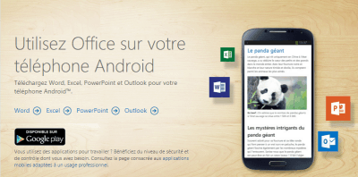 Office pour Android gratuit