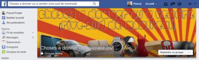 Choses à donner ou à vendre Facebook