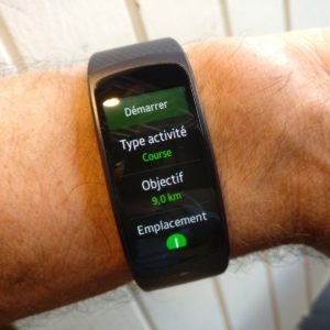 Samsung Gear Fit2 création activités