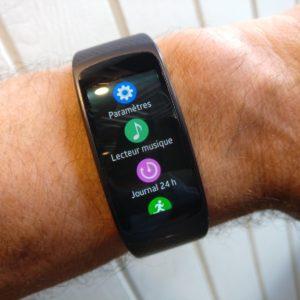 Les paramètres - Gear Fit2 de Samsung