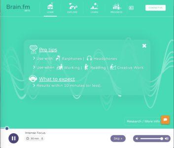 interface brain.fm
